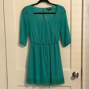 Short turquoise dress